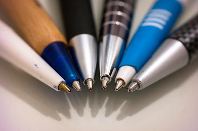 Brand din virksomhed med reklamekuglepenne